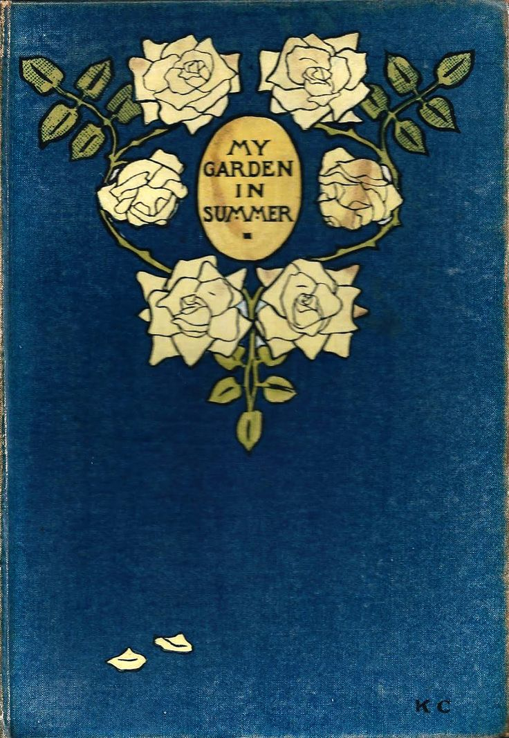 """""""My garden in Summer"""" from The Garden Books by E.A. (Edward Augustus) Bowles. Binding designed by Katharine Cameron. T. C. & E. C., London, 1914"""