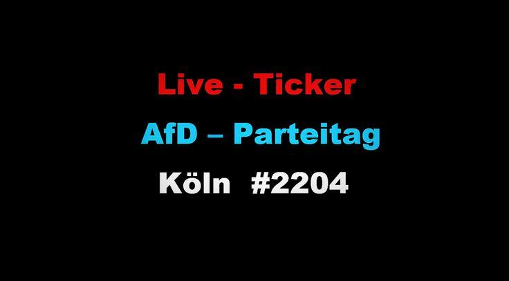 Samstag | 22. April | ab 09.30 Uhr:Live-Ticker vom #AfDBpt17 in #Köln – hier via Twitter oder Facebook (➡️ https://t.co/wzbiCD4tpG)! pic.twitter.com/n4tsaU1U7O — AfD Kompakt (@AfDKompakt) April 21, 2017  🔴LIVE: Proteste gegen weiter lesen