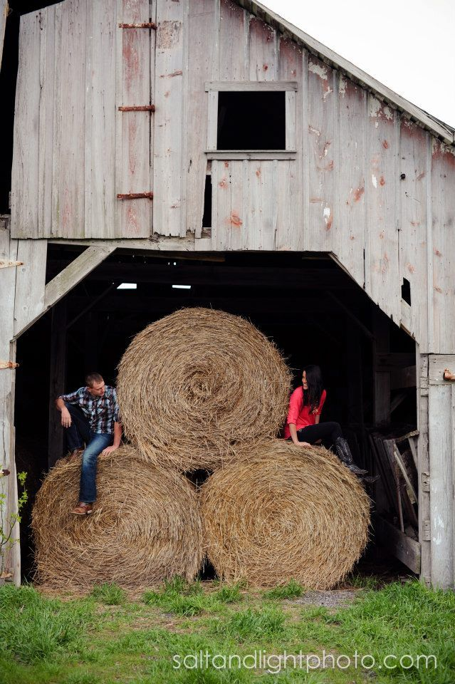 Country Engagements | Salt & Light Photography - barn engagments @Randi Lyn