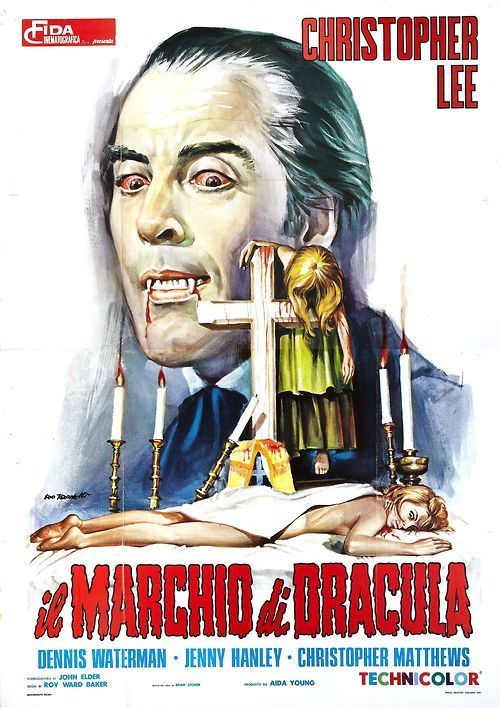 Italian poster for Hammer's Scars Of Dracula. From Spook Show Vixens