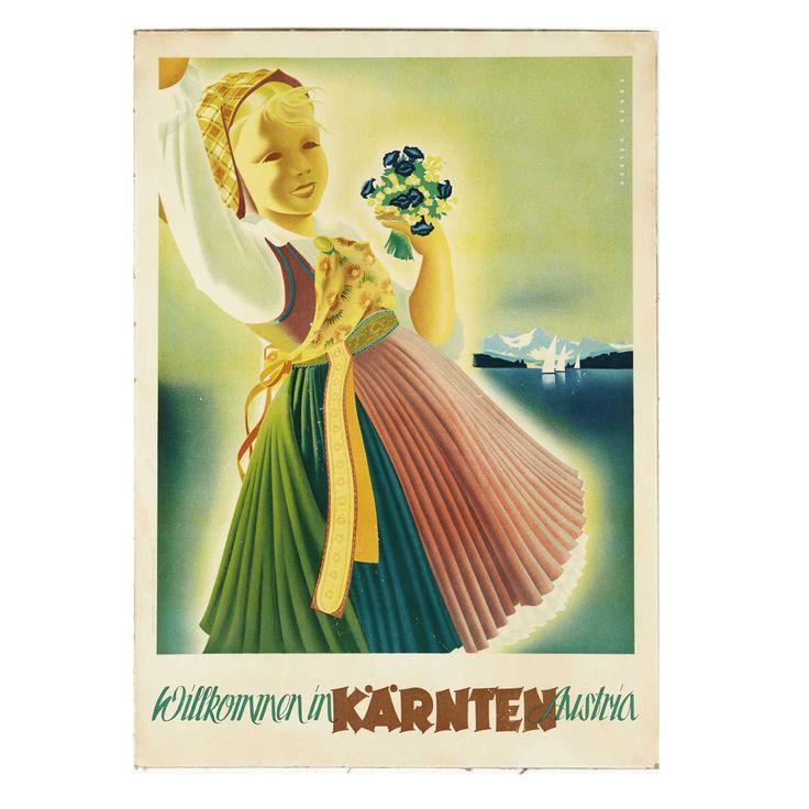 VELDEN. Willkommen in Karnten Austria, vers 1950