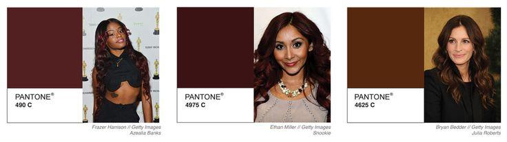 A Pantone Spectrum Of Celebrity Hair Color