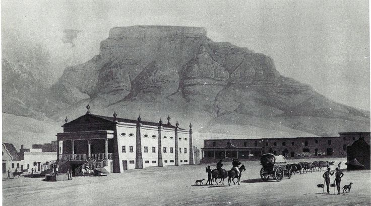 South Africa's first theatre, painted from when it was used as a theatre