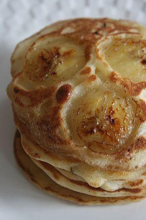 pancakes à la banana et au yaourt