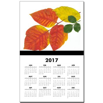 Autumn Leaves In Boston By Calendar by Khoncepts