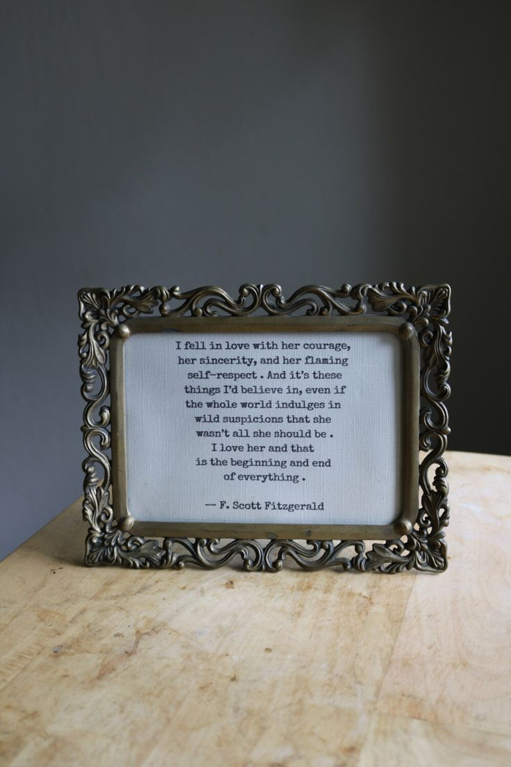 i fell in love with her courage f scott fitzgerald love quote typed framed tender is the night the great gatsby typewriter typewritten by ToQuoteOrNotToQuote on Etsy https://www.etsy.com/listing/194868557/i-fell-in-love-with-her-courage-f-scott