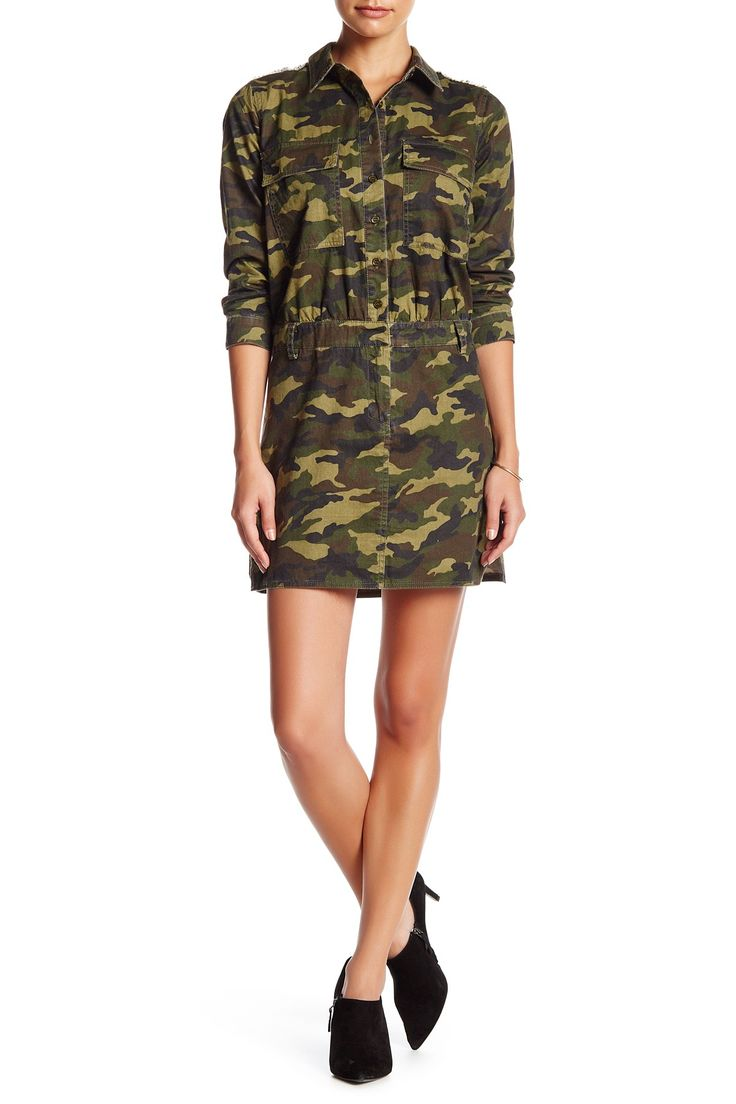 Collared Camouflage Dress