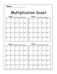 Multiplication Scoot by Adventures of Ms Smith | Teachers Pay Teachers