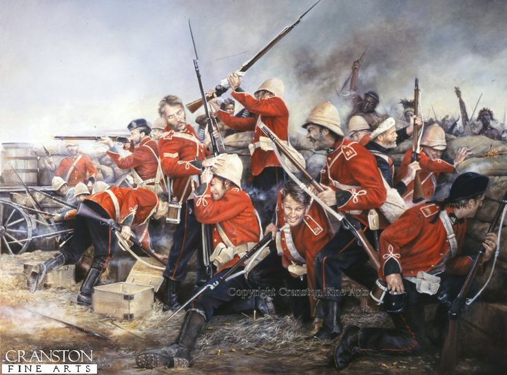 Stand Firm the 24th (Rorke's Drift) by Chris Collingwood. During the battle for Rorke's Drift, the 24th Warwickshires man the improvised ramparts of the inner barricade as the Zulu attack reaches it height.