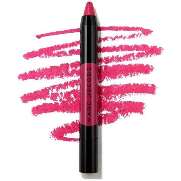 Marc Jacobs Le Marc Liquid Lip Crayon ($26) ❤ liked on Polyvore featuring beauty products, makeup, lip makeup, beauty, natural, paraben free cosmetics, marc jacobs, long wear makeup, marc jacobs makeup and paraben free makeup