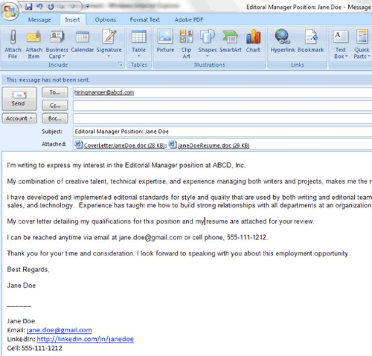 6 Easy Steps for Emailing a Resume and Cover Letter: How to Attach a Resume and Cover Letter to an Email Message