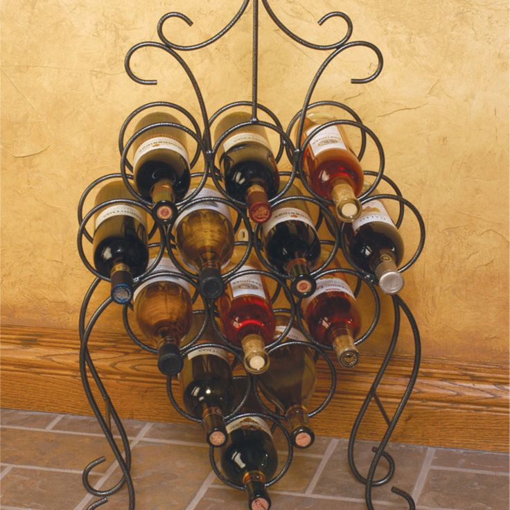 J & J Wire Victorian Wine Rack - DP1020