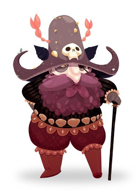 CLéblog, pirate, captain, animation, illustration, character