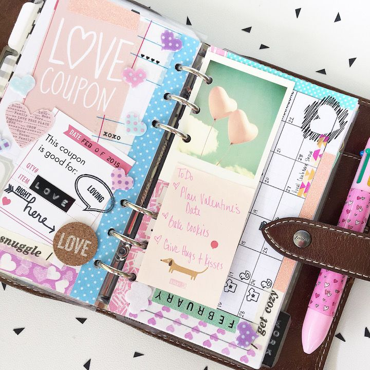 Studio2e Blog: Plan With... Teddi - February Filofax Setup and Decoration