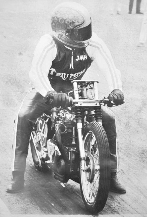 John Melniczuk parasite triumph motorcycle drag dragster