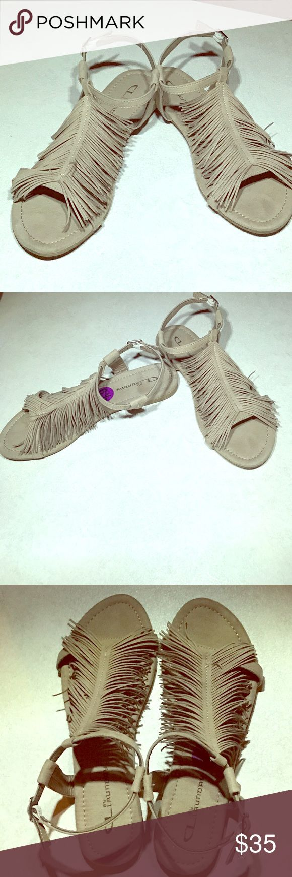 Fringed Slingback Sandals by CL Laundry Beautiful fringed Sandal just in time for summer! CL Laundry Shoes Sandals