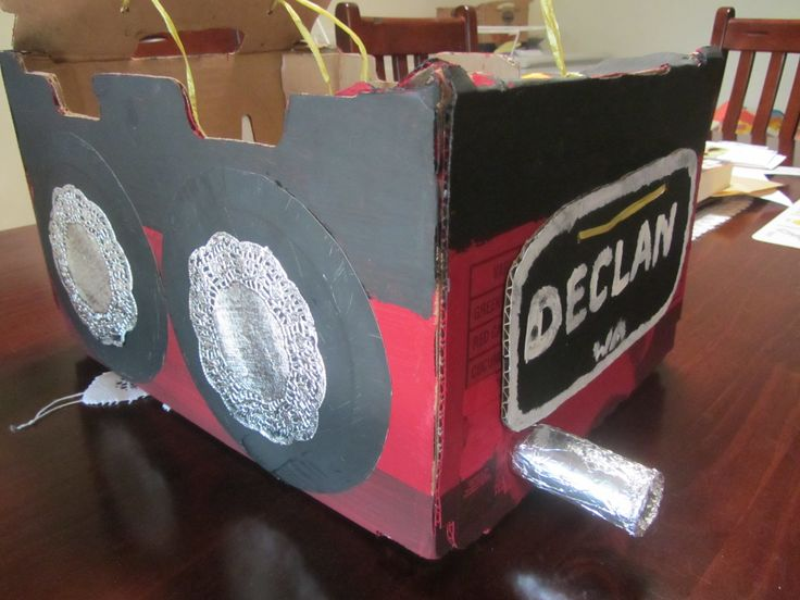 how to make a cardboard car for school