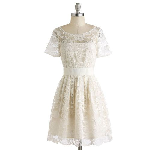 White Rehearsal Dinner Dress