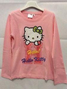 Maglietta manica lunga bambina Hello Kitty rosa 4 anni idea regalo | eBay