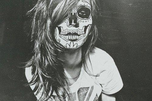 Image result for skull girl wallpaper