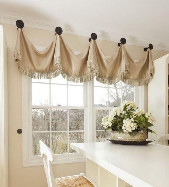 custom drapery panels curtains valances and other things window treatments hanging from what knobs - Kitchen Window Valances
