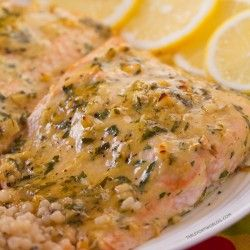 An easy baked salmon recipe that is full of flavor and easy! You'll flip for this baked salmon with honey dijon and garlic!