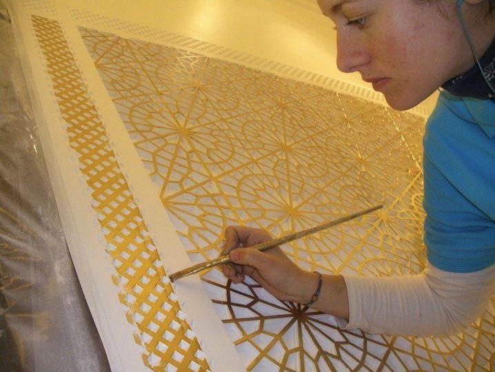 Palacio de Congresos Oran. Palacio de Congresos Oran. pintura mudejar decoracion arabe pintura oro