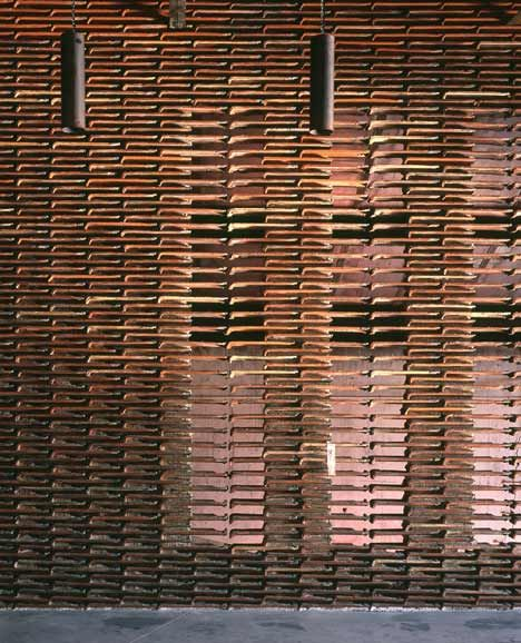 Warehouse 8B, Arturo Franco Office for Architecture. madrid. stacked roof tiles