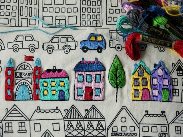 embroidered town, Lu Summers