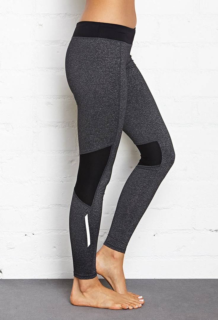 Contrast Panel Performance Leggings | FOREVER21 #F21Active