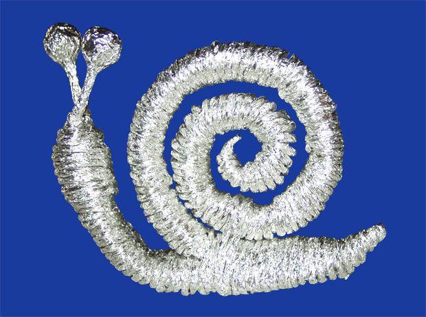 Sparkling art. Плетение из фольги: Улитка. Мастер-класс. Готовая модель