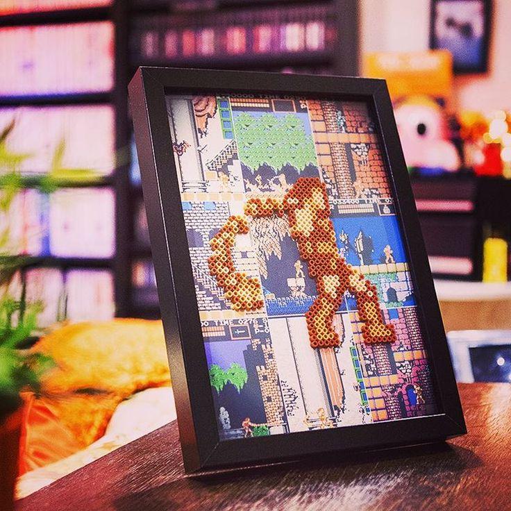 Framed Castlevania Bead Art By Caveofpixels.com   Perfect For A Retro Game  Room