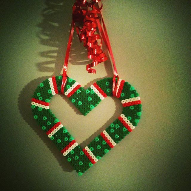 Christmas ornament hama beads by sydankayra
