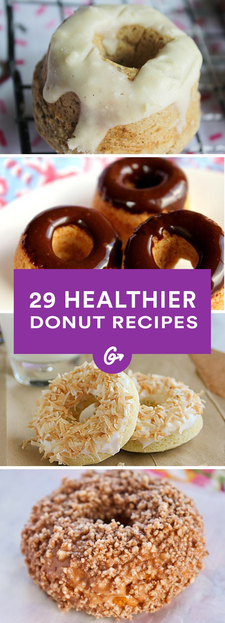 Who doesn't love a good doughnut? #healthy #doughnuts #recipes http://greatist.com/health/healthier-donut-recipes