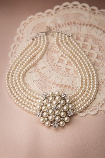 Lovely - Audrey Cream Pearl Choker Necklace from Top vintage retro Boutique