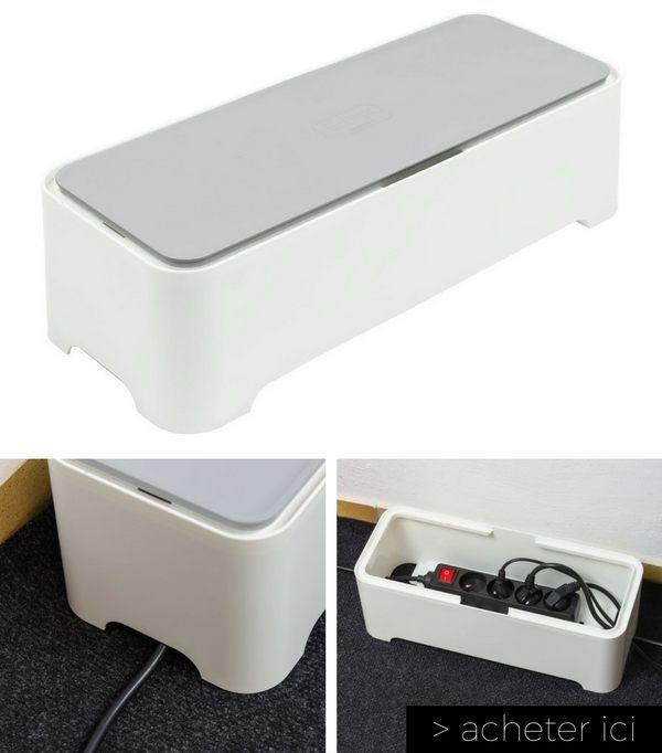 Une boîte design pour ranger et cacher les câbles  http://www.homelisty.com/vie-facile-objets-maison/