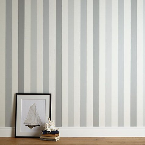 John lewis padstow stripe wallpaper pacific wallpaper for Colors that go with gray and white