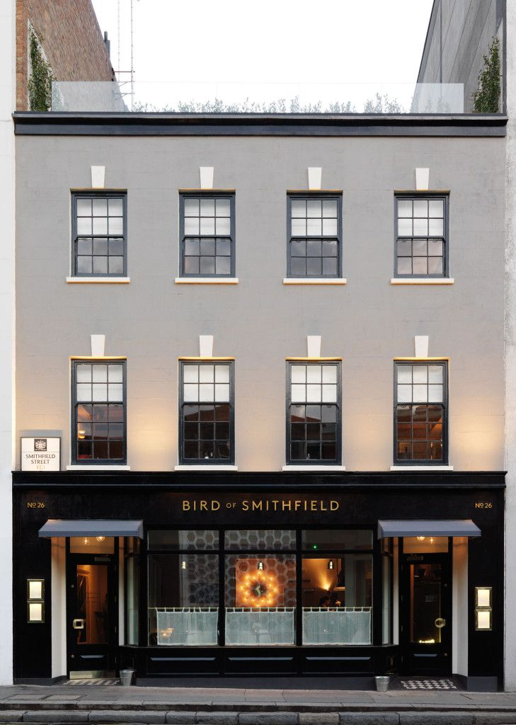 Image courtesy of Bird of Smithfield. modern london wedding venue