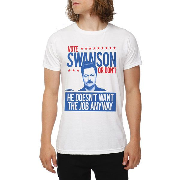 559e14f405e8 Parks And Recreation Vote Ron Swanson T-Shirt | Cool ideas | Parks,  recreation, Ron swanson, Parks, recs