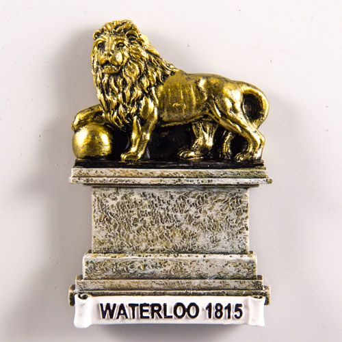 Resin Fridge Magnet: Belgium. Lions Mound (Butte du Lion). Battlefield of Waterloo