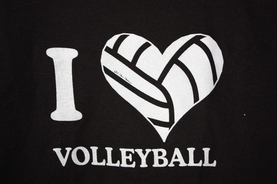 T-Shirt - Girls I love volleyball - heart via Etsy