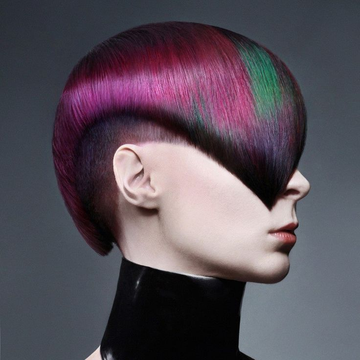 Stunning color work by E.J. Baire! Beautiful geometric haircut by Lindsay Pierce. MUA: Maryann Singleton; Photog: Hannah Dexter
