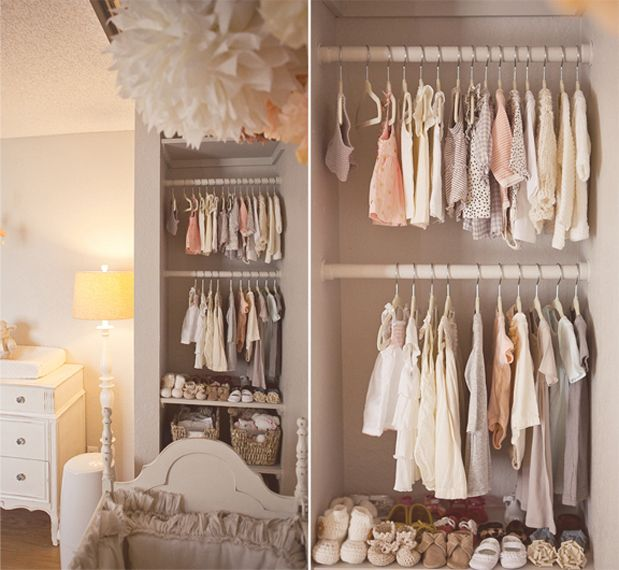 kelly murray's baby girl nursery / cream, peach and gray / so classy.