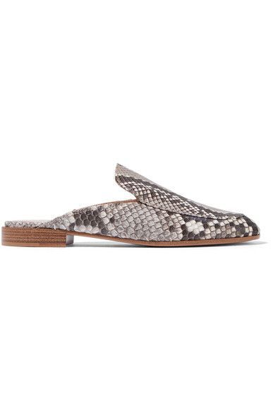 Gianvito Rossi - Python Slippers - Snake print - IT37.5