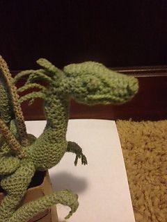 Beautiful dragon! Free pattern on ravelry