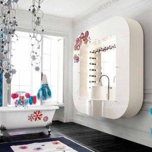 blue and white feminine bathroom ideas for women and girls