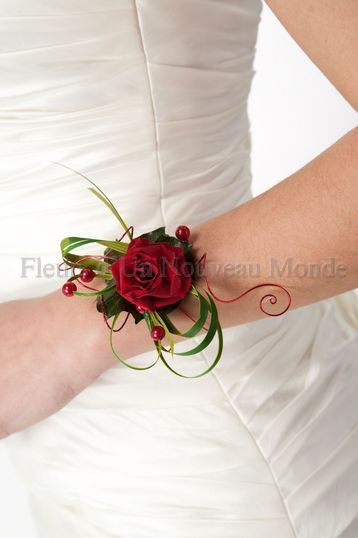 a simple wrist corsage