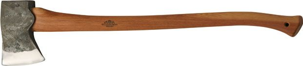 """Gränsfors American Felling Axe  -Item no: 434-2  Length with handle: 90 cm with curved handle (35.5"""")  Weight: 2,2 kg (4.8 lb)  Sheath in vegetable-tanned leather"""