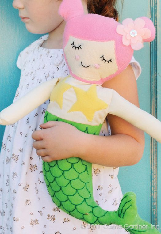 Sweet mermaid doll pattern by @Carina Gardner