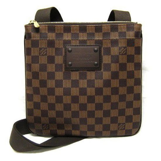 0db49581702ca Louis Vuitton N41100 Pochette Plate Brooklyn Crossbody Bag Damier Ebene  Canvas